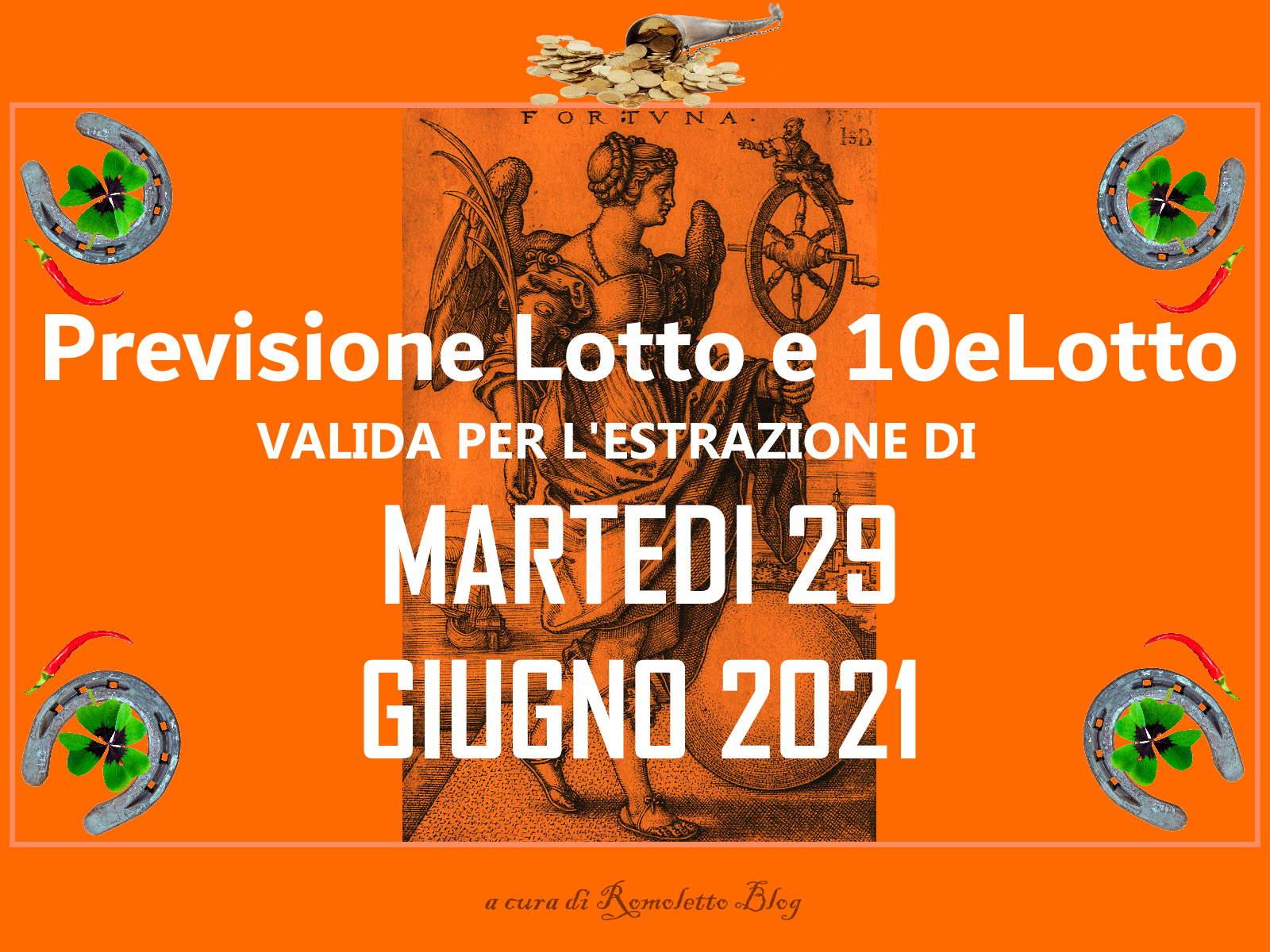 Previsione Lotto 29 Giugno 2021