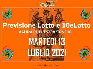 Previsione Lotto 13 Luglio 2021