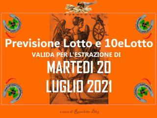 Previsione Lotto 20 Luglio 2021