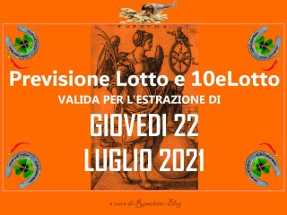 Previsione Lotto 22 Luglio 2021