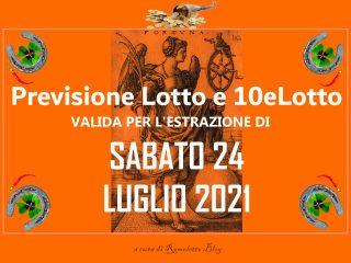Previsione Lotto 24 Luglio 2021