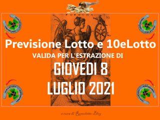 Previsione Lotto 8 Luglio 2021