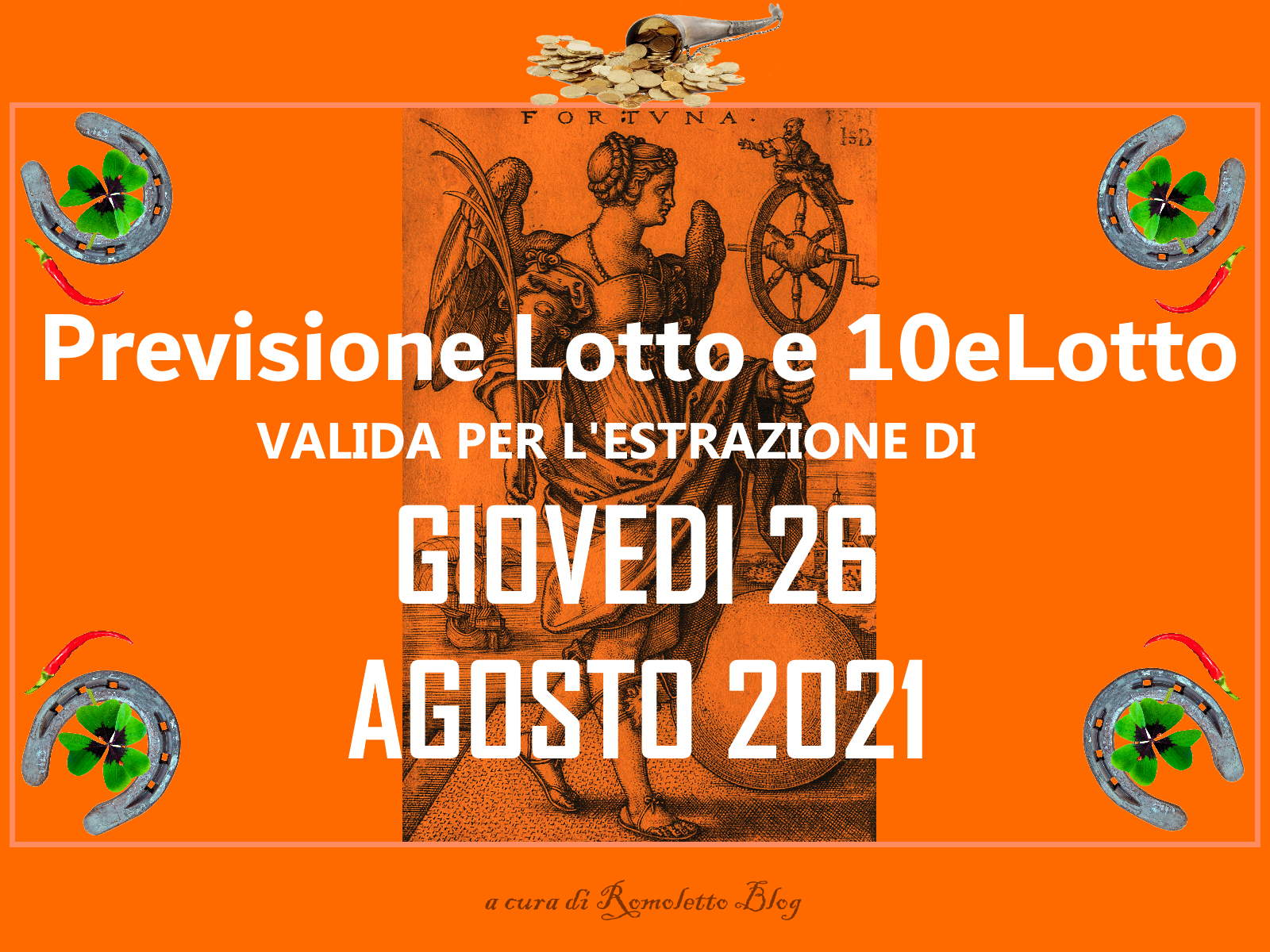 Previsione Lotto 26 Agosto 2021