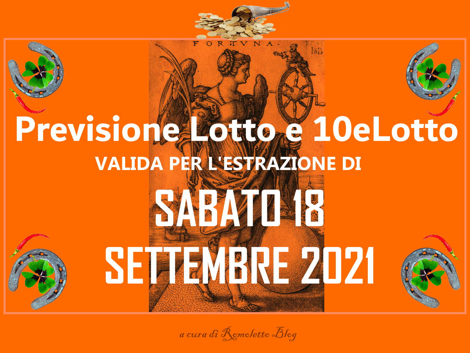 Previsione Lotto 18 Settembre 2021