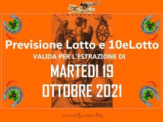 Previsione Lotto 19 Ottobre 2021
